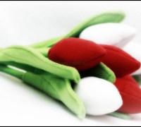 Тюльпаны из флиса своими руками