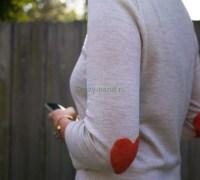 Как сделать сердечки на свитер в технике валяния