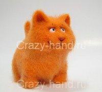 Рыженький котенок своими руками
