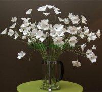 Делаем букет белых цветов