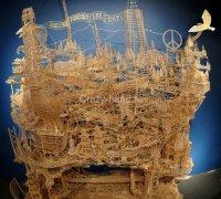 Удивительные скульптуры изготовленные из зубочисток (Фото и Видео)