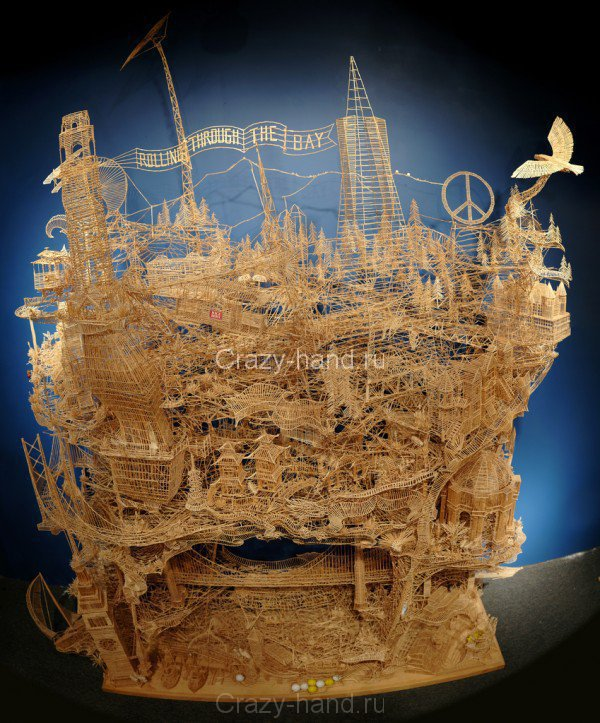 toothpick-sculpture
