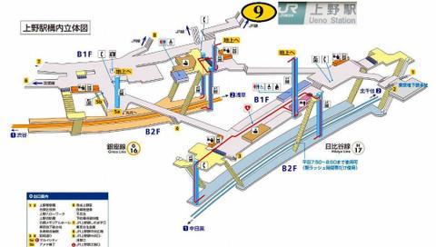 上野駅9番出口への行き方(東京メトロ銀座線/日比谷線)備忘録 ...
