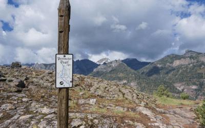 Cascade Falls, Ouray CO, hikes near Ouray, Ouray hikes, Perimeter Trail, Box Canyon, Ice Park, Ouray Perimeter Trail