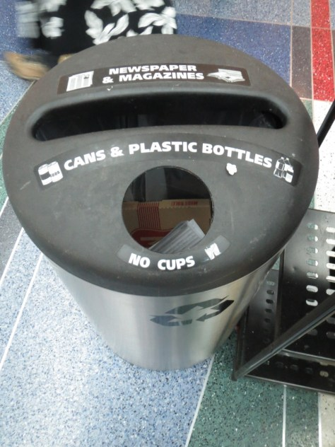 PDX Airport Recycling Can