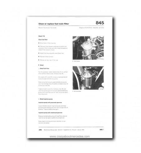 Mercedes Benz Maintenance Manual USA Model Year 1972-1980