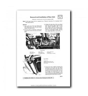 Mercedes Benz Service Manual Maintenance, Tuning, Unit