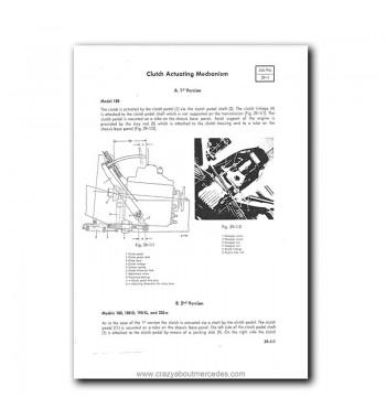 Mercedes Benz Service Manual Models 180 to 220 SE