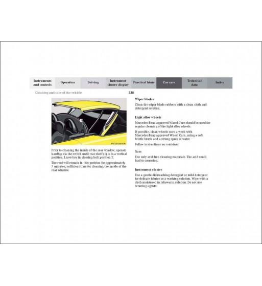 Mercedes Benz SLK Operator's Manual W170