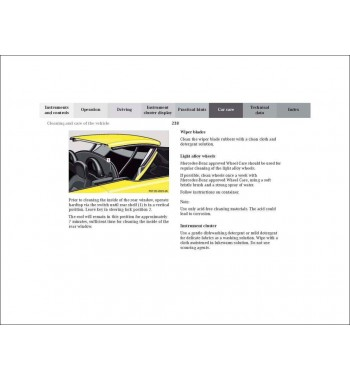 Mercedes Benz Operator's Manual SLK-Class W170