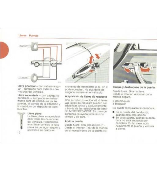 Manual Mercedes Benz SL Instrucciones de Servicio R107