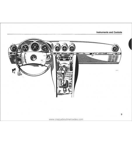 Mercedes Benz SL-SLC Owner's Manual W107