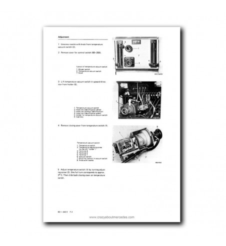 Mercedes Benz Service Manual Air Conditioning System Model