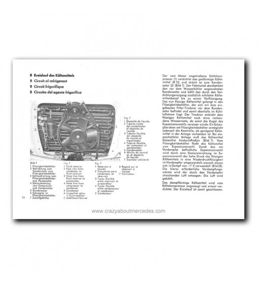 Mercedes Benz Air Conditioning System 280 S, 280 SE