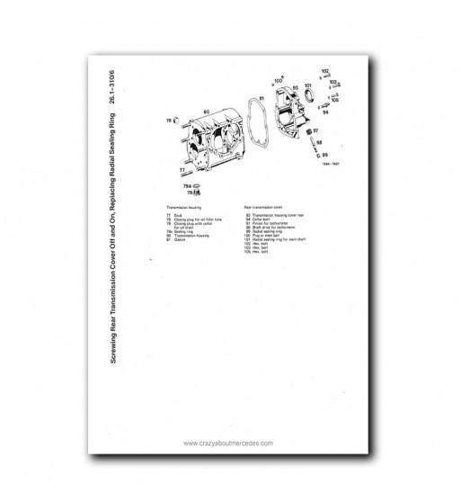 Mercedes Benz Service Manual Clutch & Transmission 4-Speed