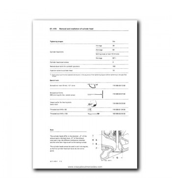 Mercedes Benz Service Manual V-8 Engine M 116.96 (3.8) & M
