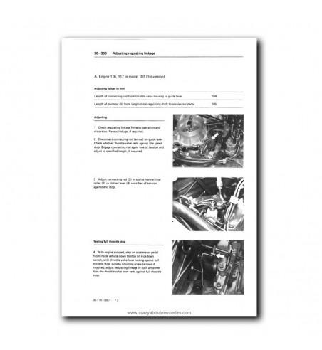 Mercedes Benz Service Manual V-8 Engine M 116.96 (3.8), M