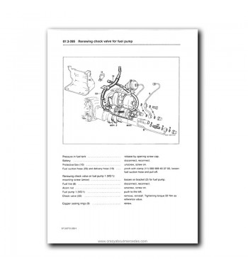 Mercedes Benz Service Manual V8 Engines M 116.96 (4.2), M
