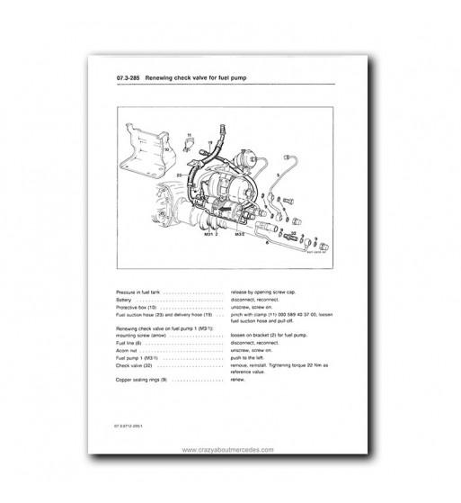 Mercedes Benz Service Manual V8 Engines M 116.96 (4.2), M