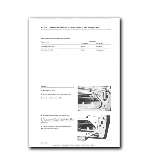Mercedes Benz Service Manual Chassis & Body Model 107