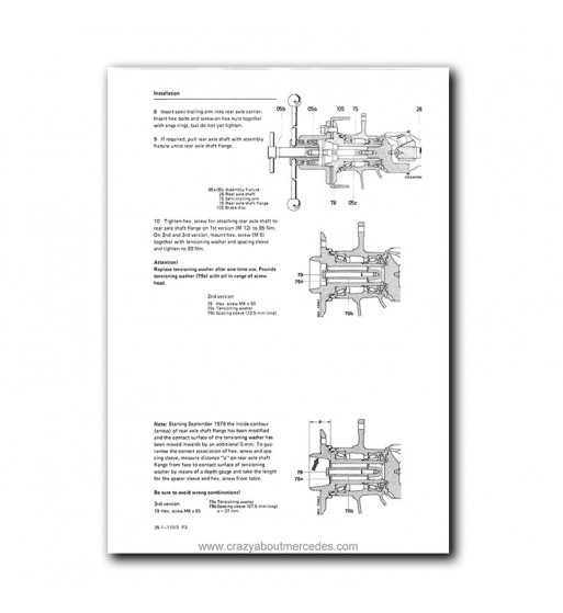 Mercedes Benz Service Manual Chassis & Body Series 114