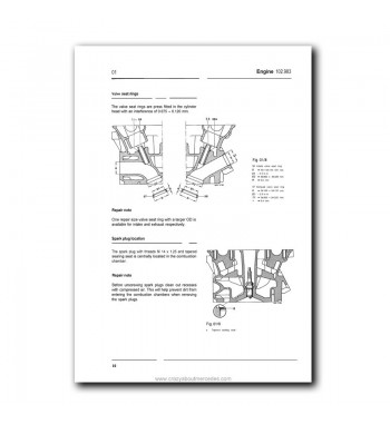 Mercedes Benz Service Manual Supplement Engine 102