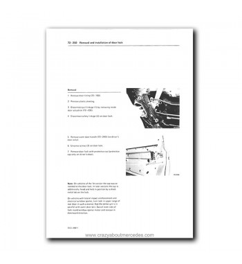 Mercedes Benz Service Manual Chassis & Body Series 116