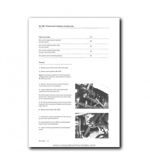 Mercedes Benz Service Manual Chassis & Body Series 123