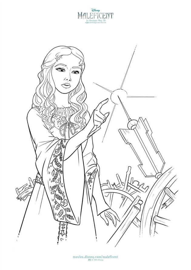 Free maleficent coloring pages