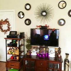 How Can I Decorate My Living Room Wall Wood Decorating For Halloween And Fall In The New House | Crazy ...