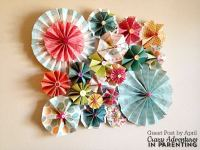 How to Make Paper Rosettes: Beautiful Paper Rosette Wall Decor