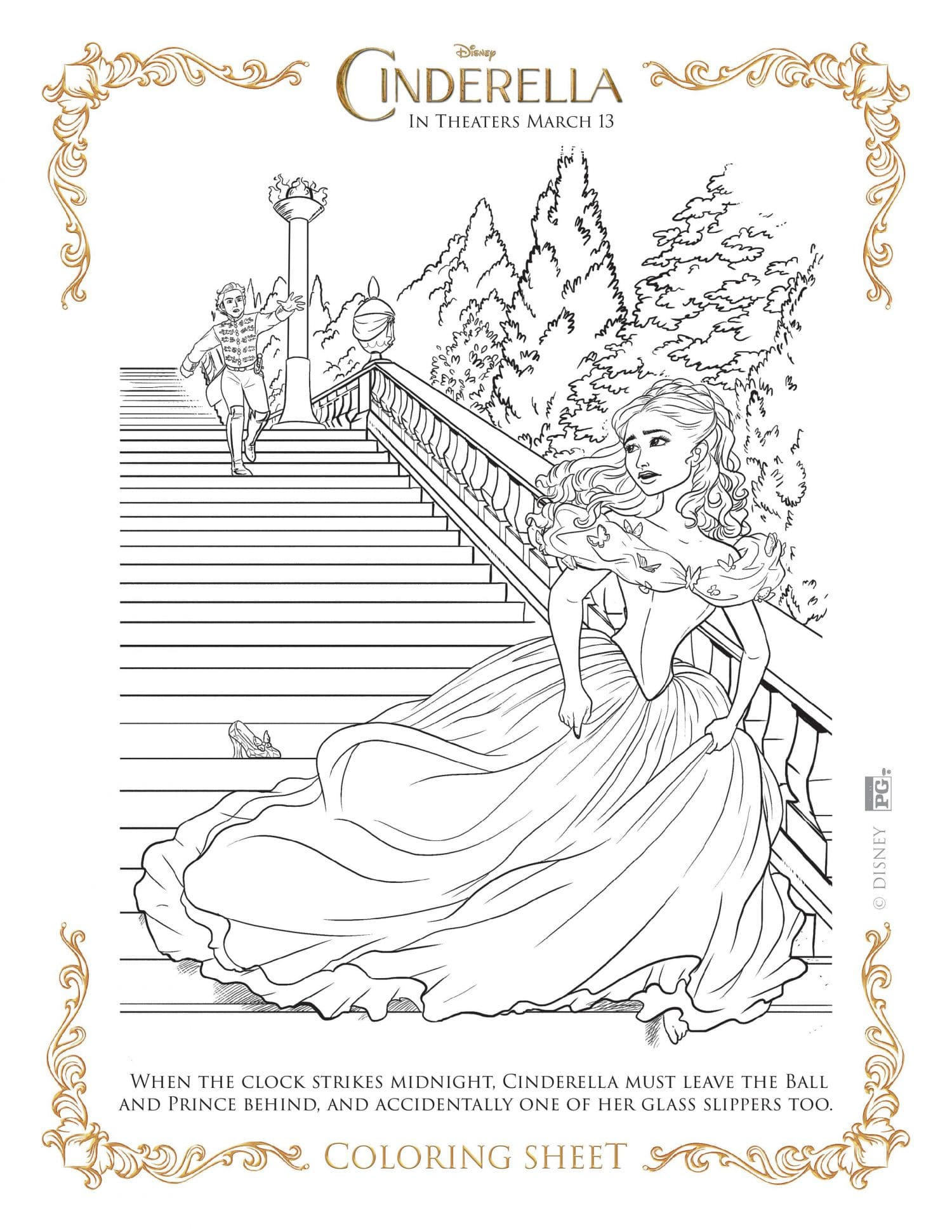 New Disney S Cinderella Coloring Pages And Activity Sheets