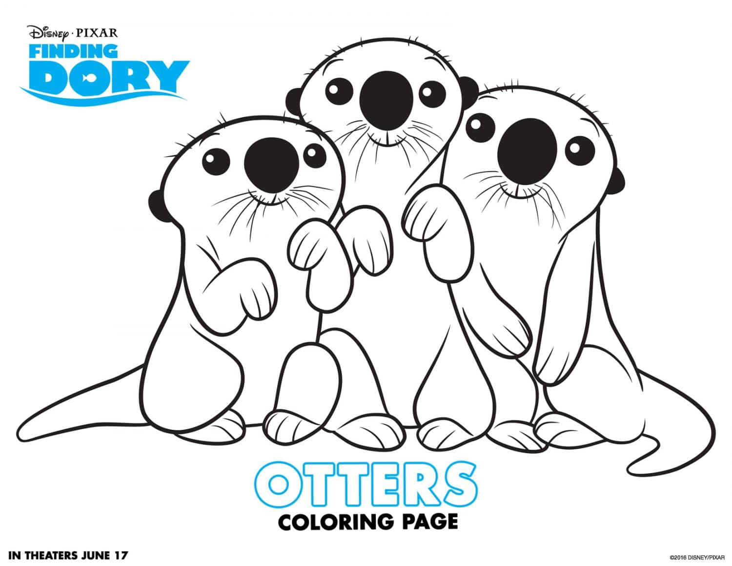 Finding Dory Coloring Pages And Activity Sheets