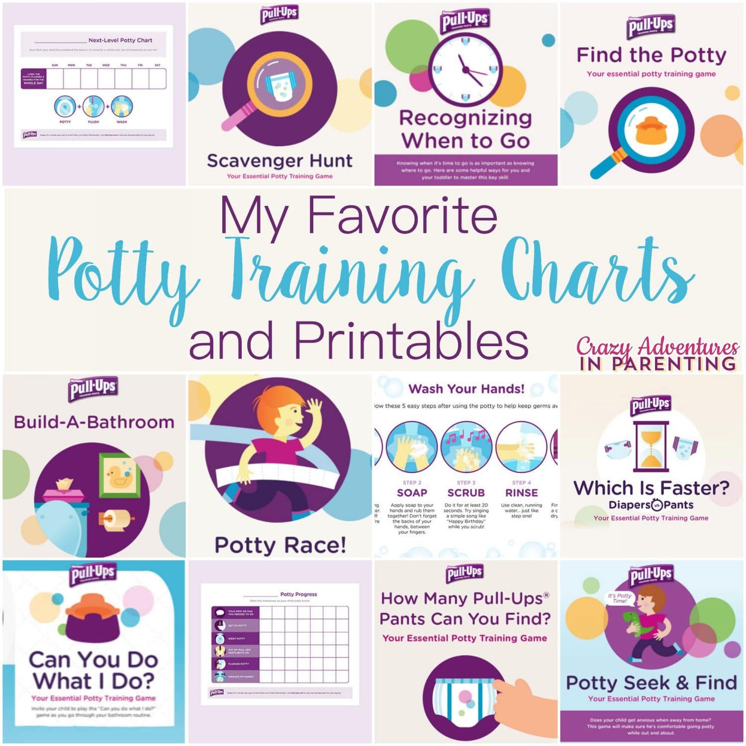 My Favorite Potty Training Charts And Printables
