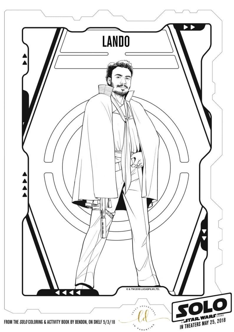 SOLO: A STAR WARS STORY Coloring Pages and Activity Sheets