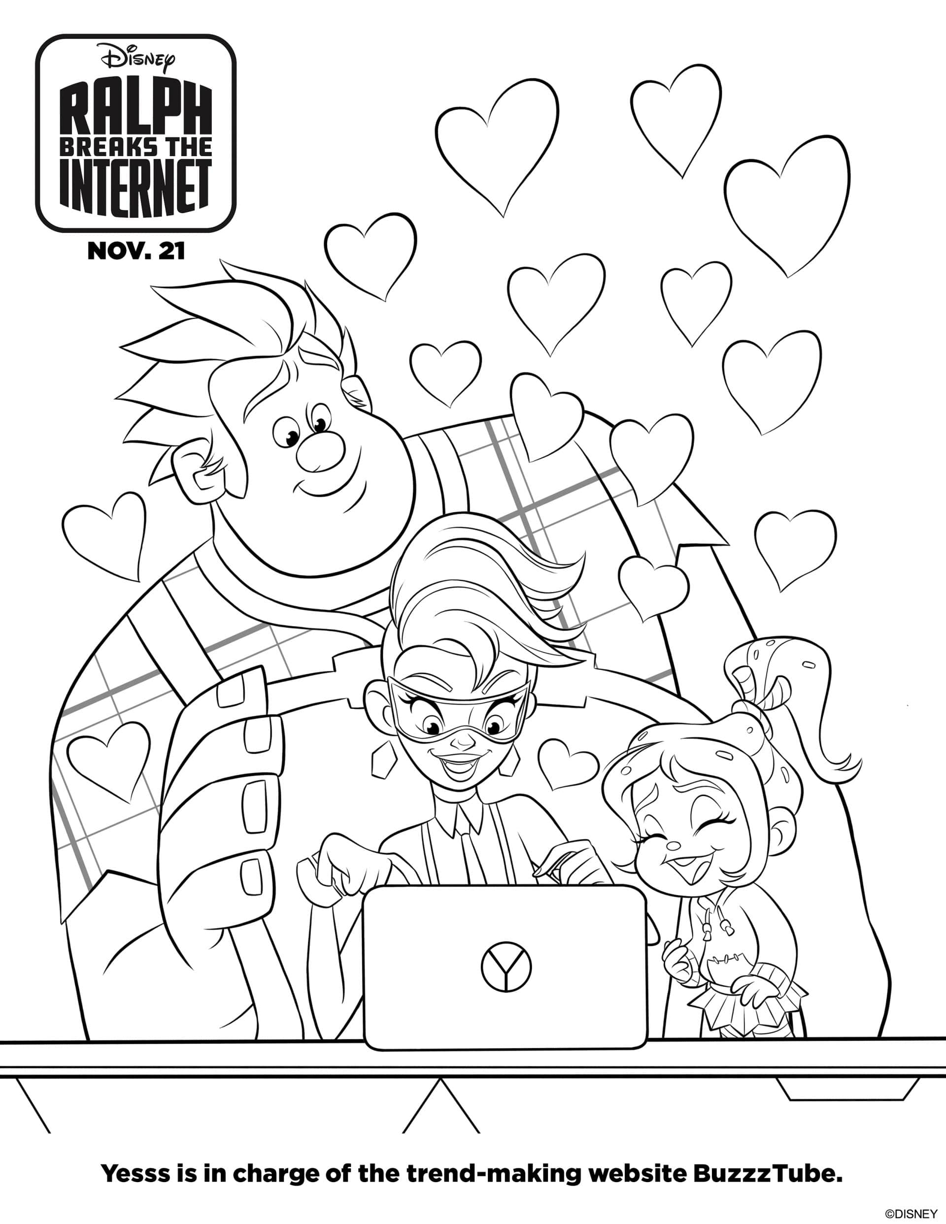 Ralph Breaks the Internet Coloring Pages and Activity