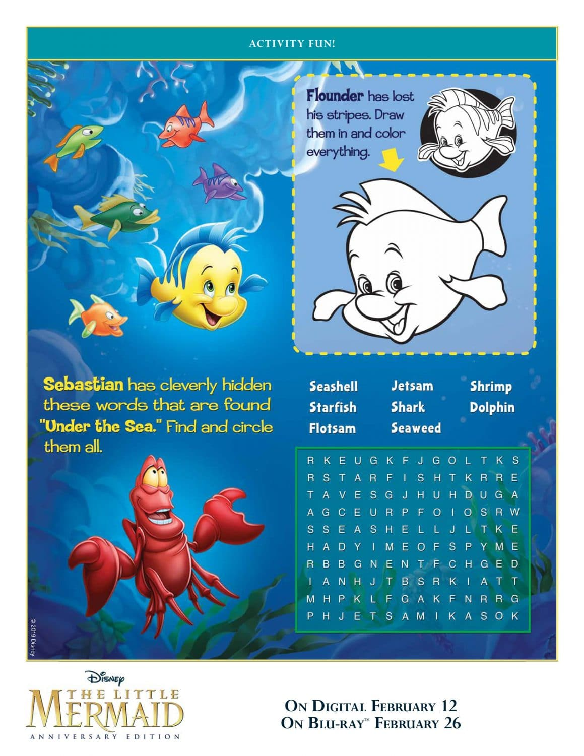 The Little Mermaid Coloring Pages And Activity Sheets