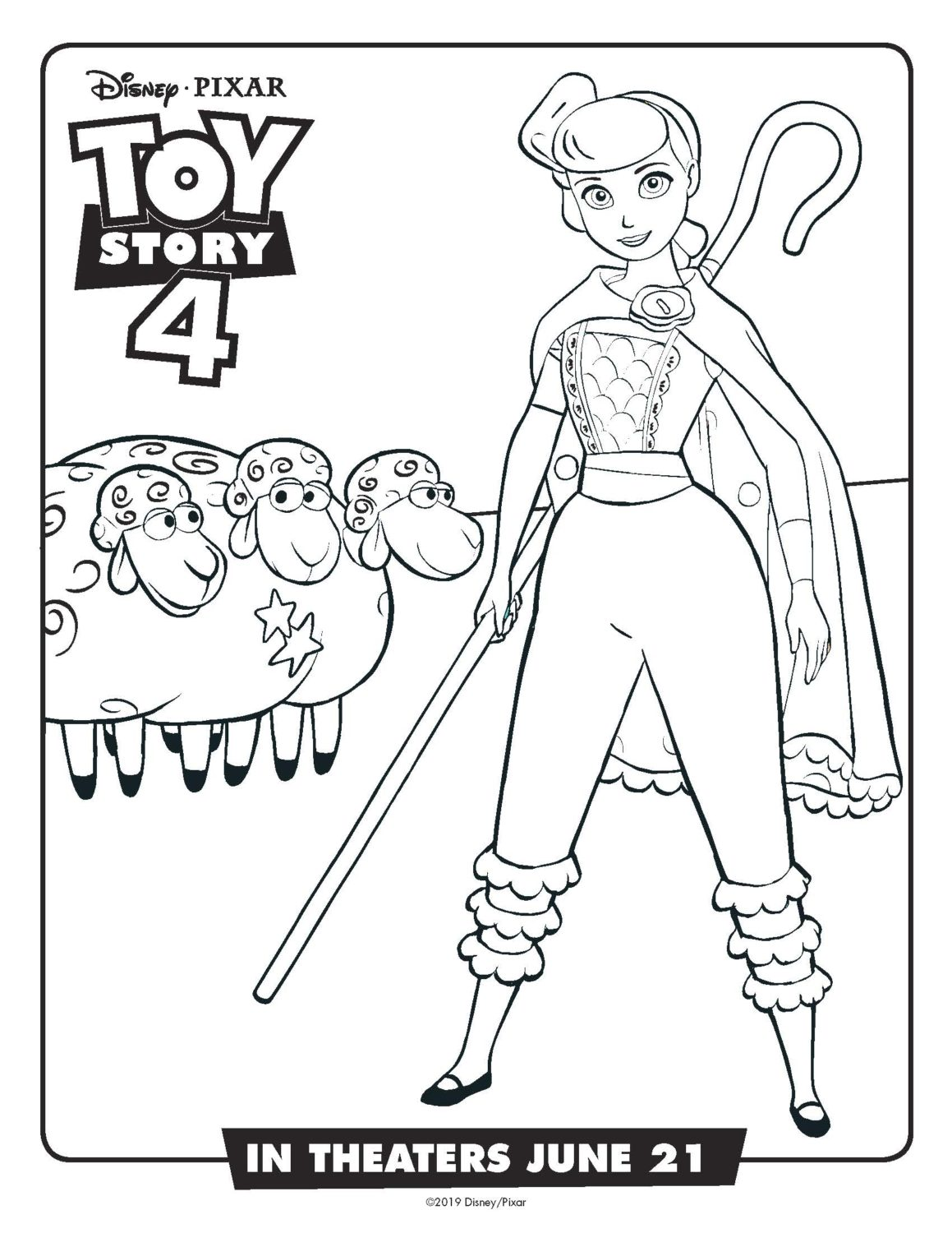 Toy Story 4 Coloring Pages And Activity Sheets