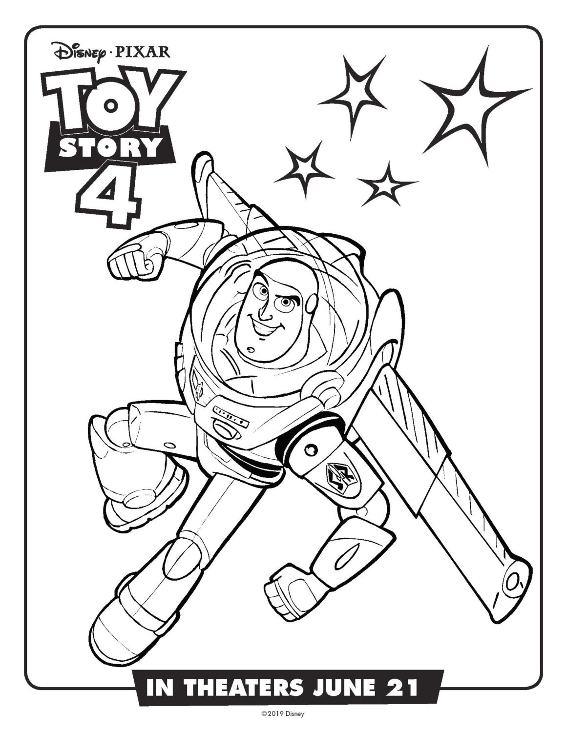 Free Printable Toy Story 4 Coloring Pages And Activity