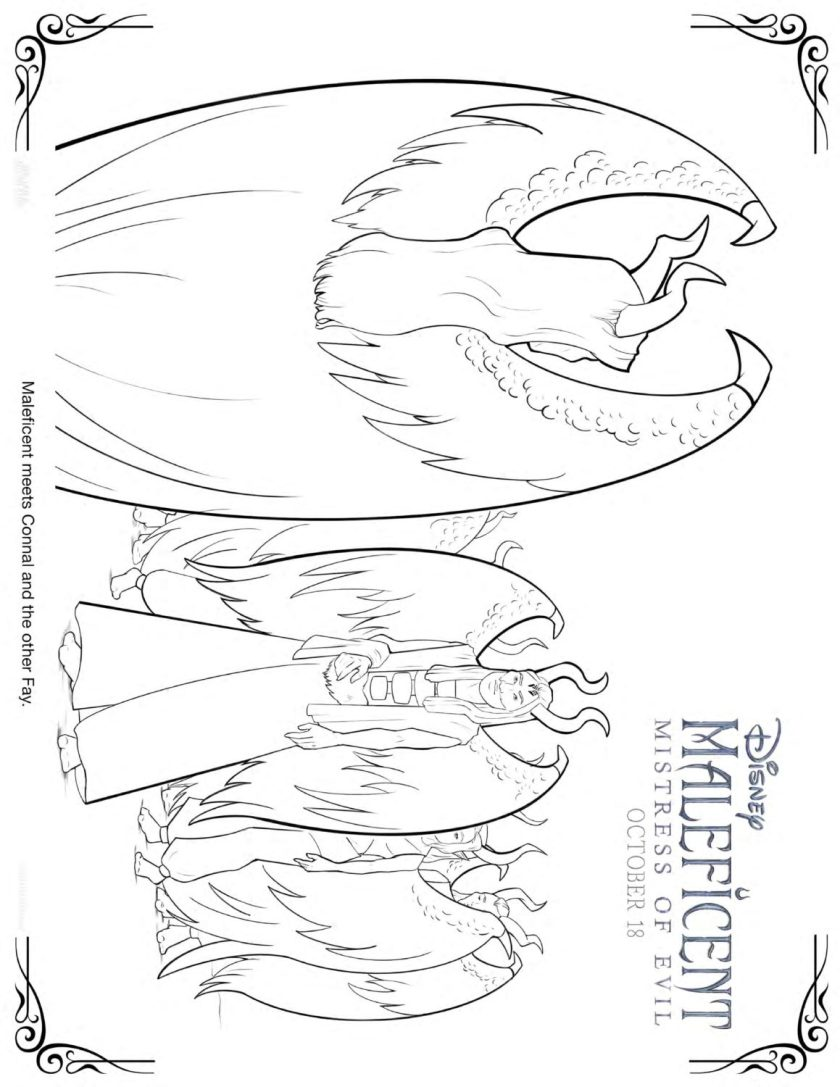 maleficent 2 coloring pages and activity sheets  crazy