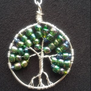 green tree of life pendant