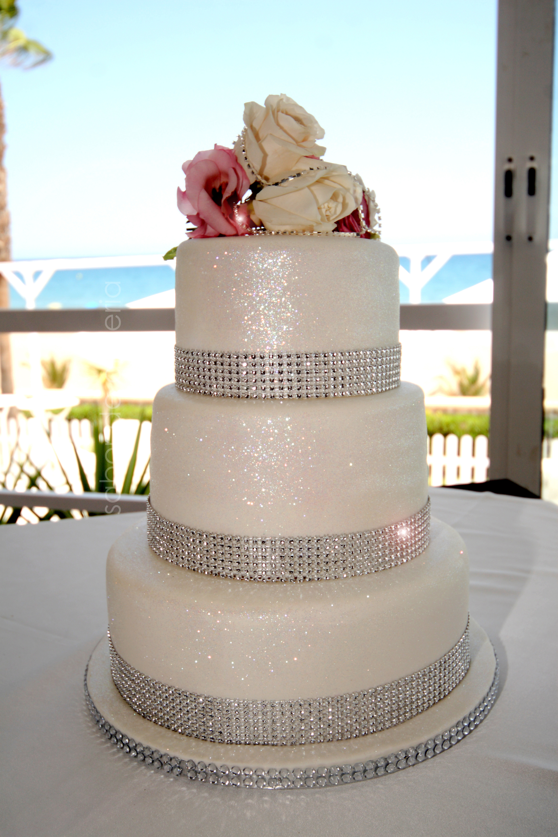 Sparkle Wedding Cake Crazy Cakes Almeria