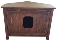 Odor Free Corner Cat Litter Box Cabinet. - Thecolorwild.co