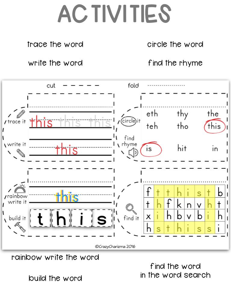 medium resolution of Dolch Sight Words Grade 2