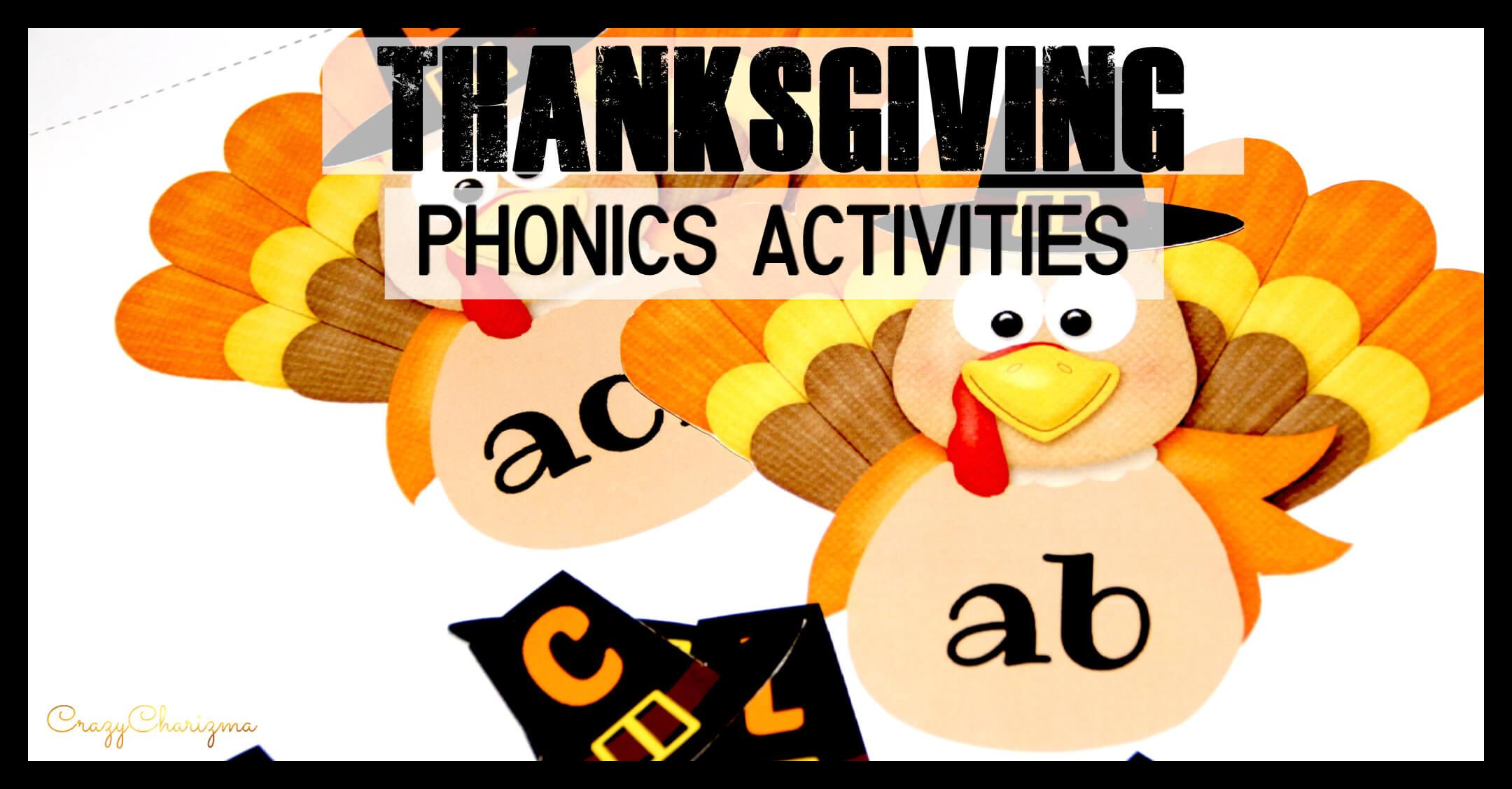 Thanksgiving Phonics Activities For Kindergarten