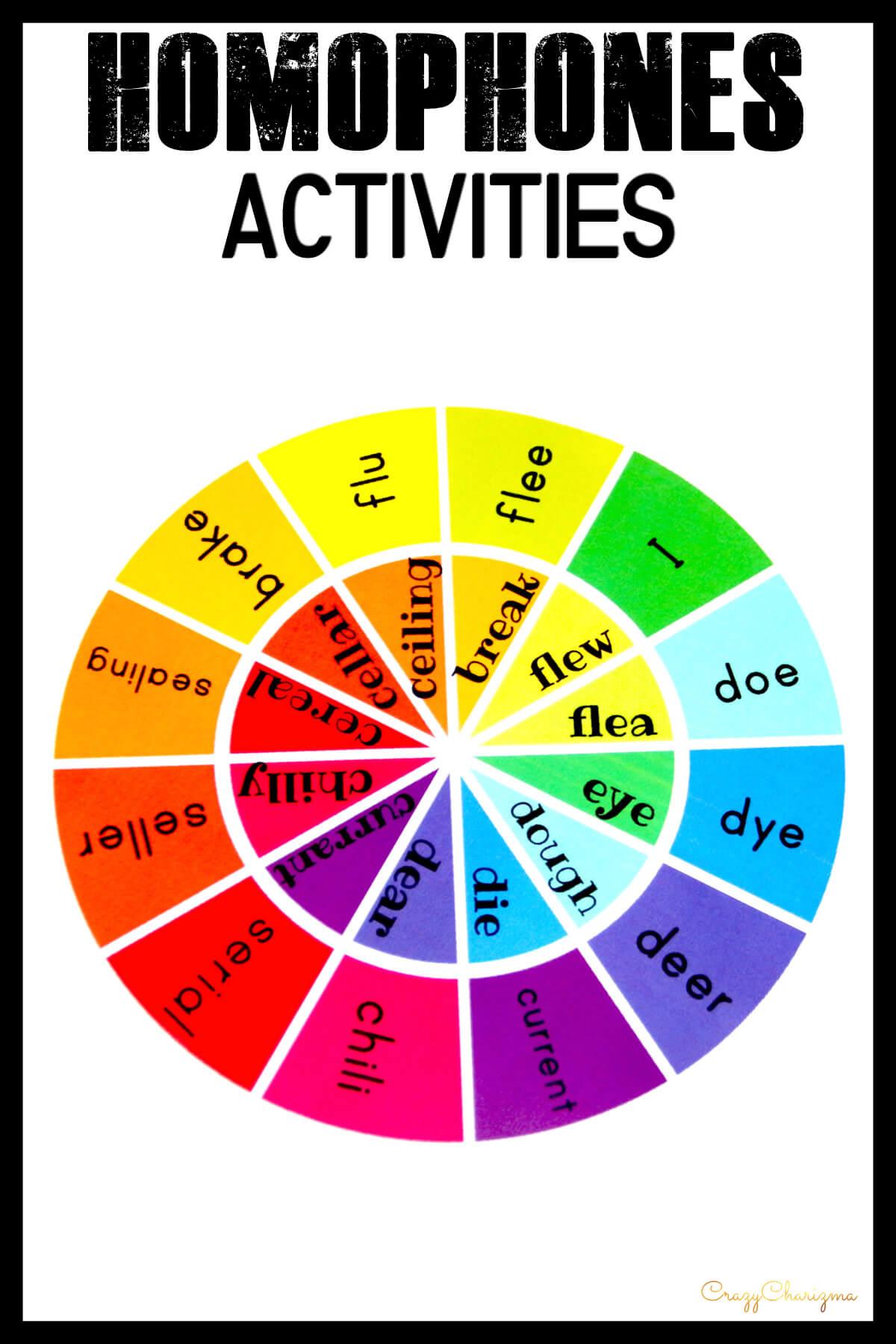 Homophones Activities 4th Grade And 3rd Grade