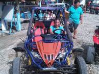 Driving a dune buggy in Boracay