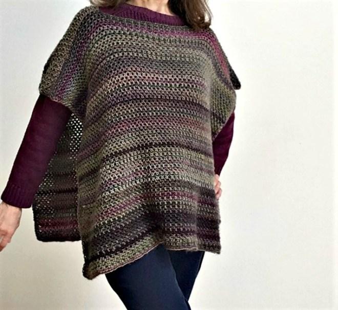 free crochet pattern crochet fall poncho