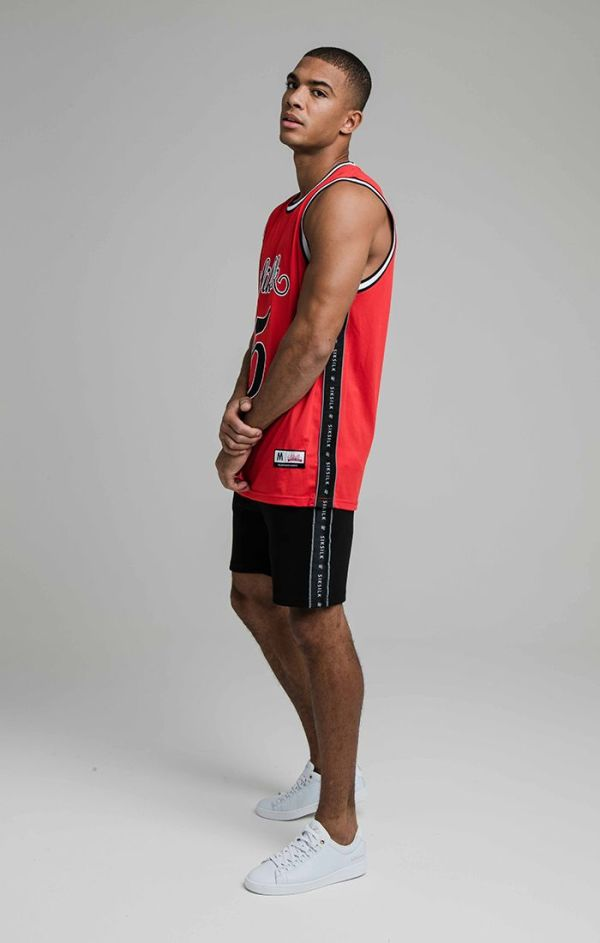 SikSilk Fusion Tape Basketball Vest - Red