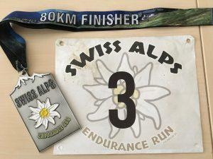 Startnummer und Finisher-Medallie